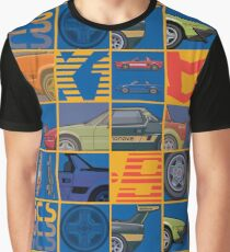 Stack of FlAT X1/9 Mid Engine Sport Cars Graphic T-Shirt