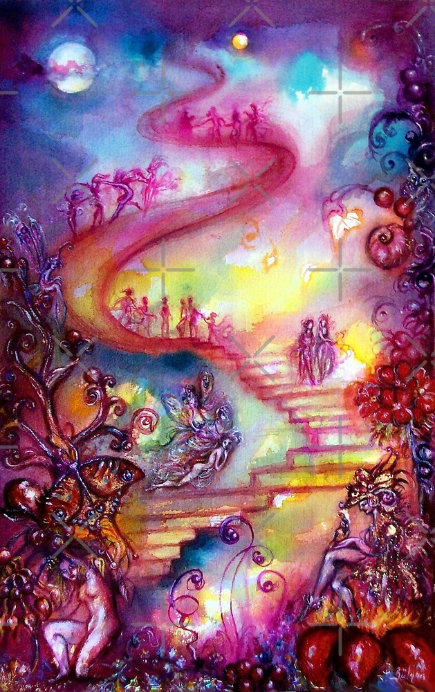 GARDEN OF THE LOST SHADOWS / MYSTIC STAIRS  by BulganLumini