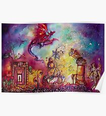 GARDEN OF THE LOST SHADOWS  / FLYING RED DRAGON Poster