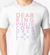 Dear King Philip Come Over For Good Sex (Biology) T-Shirt