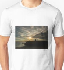 Sunset Silhouettes at a Balinese beach Unisex T-Shirt