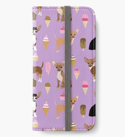 Chihuahua dog breed ice cream cone summer cute pet gifts chihuahuas iPhone Wallet