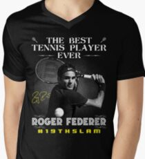 Roger Federer The Best Tennis Player Men's V-Neck T-Shirt