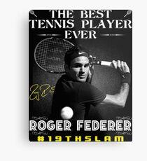 Lienzo metálico Roger Federer, el mejor tenista