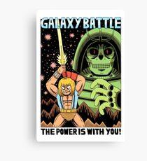 GALAXY BATTLE Canvas Print