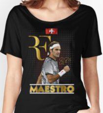 Roger Federer Wimbledon Tennis Maestro Women's Relaxed Fit T-Shirt