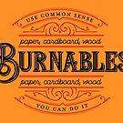 Burnables - Use Common Sense by skollipsism