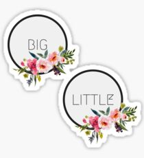 Big Little Floral Circle Combo Pack Stickers Sticker