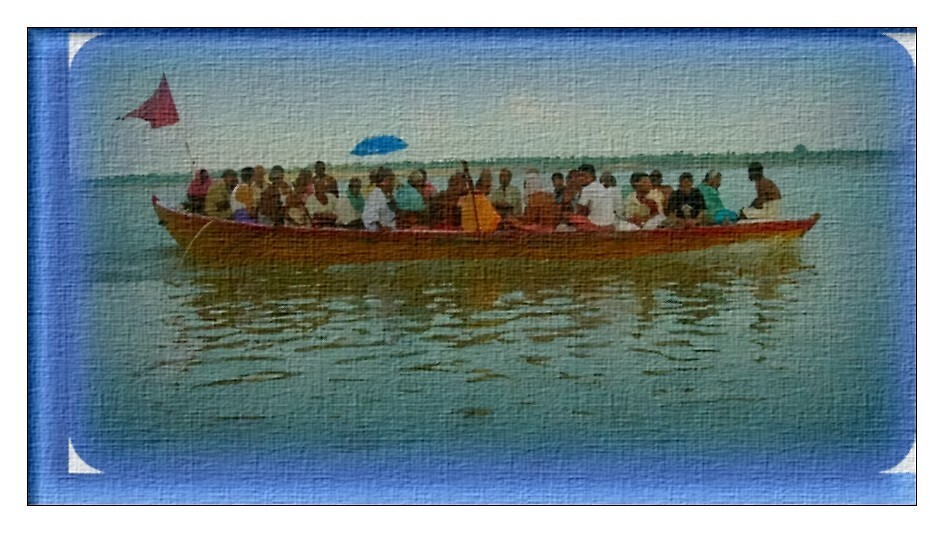 A boatful of people-a photopainting by nisheedhi