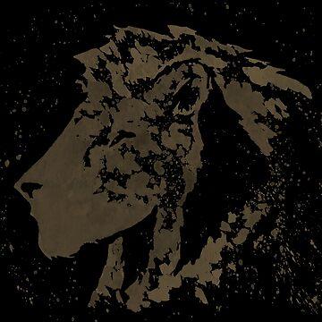Dark Splatter Paint Lion by khelland