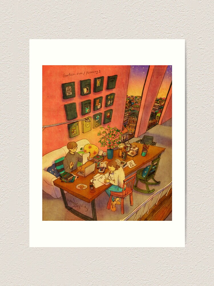 Alternate view of Busy day Art Print