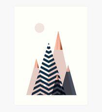 Skandinavische Berge Kunstdruck
