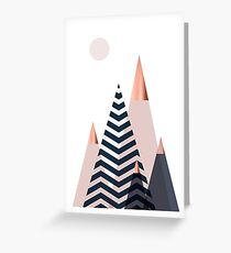 Scandinavian Mountains Greeting Card