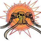 Mastodon and mammoth skulls by riomarcos