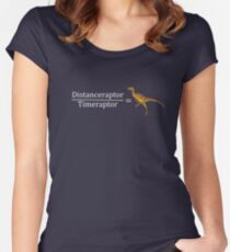 Velociraptor Math - Funny Dinosaur Velocity Formula Women's Fitted Scoop T-Shirt
