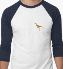 Velociraptor Math - Funny Dinosaur Velocity Formula Men's Baseball ¾ T-Shirt