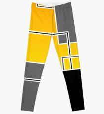Layers Geometric Design Leggings