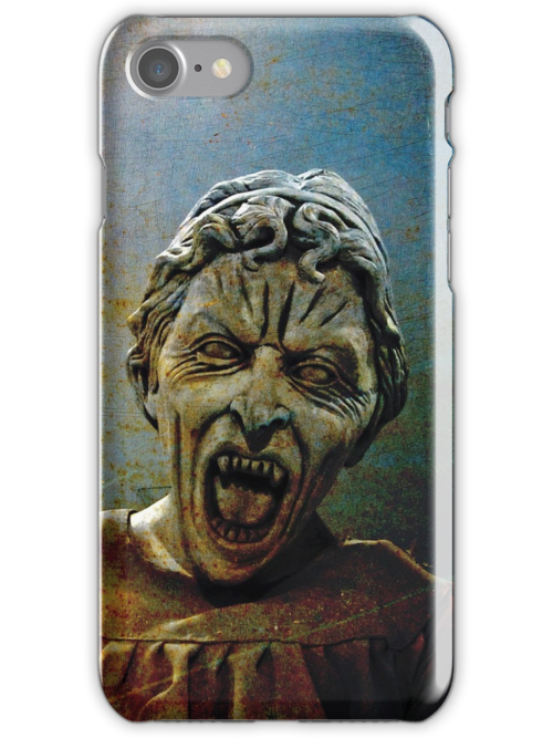 Lonely assassin or weeping Angel Dr Who iphone case by David Carton