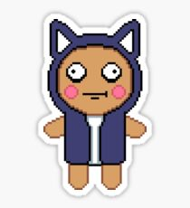 Pixel Plush Doll Sticker