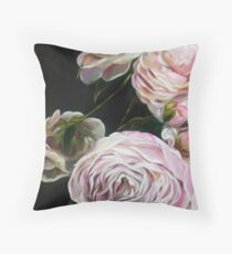 Dramatic Pink Floral Peony Blooms by Mary Sparrow Throw Pillow