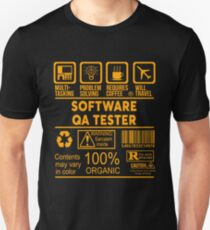 SOFTWARE QA TESTER - NICE DESIGN 2017 Unisex T-Shirt