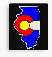 Colorado Flag Illinois State Canvas Print
