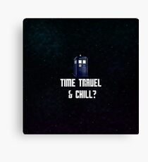 Time Travel & Chill (Galaxy Style) Canvas Print