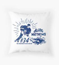 Auston Matthews Toronto Maple Leafs Throw Pillow