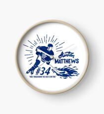 Auston Matthews Toronto Maple Leafs Clock
