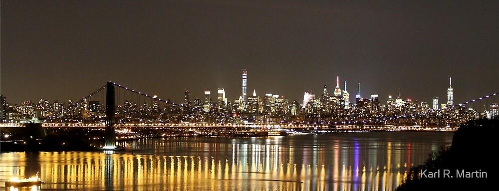 New York City at Night by Karl R. Martin