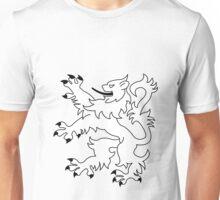 Rampant Lion White Unisex T-Shirt
