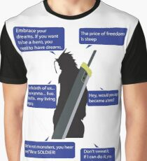 Zack Fair Final Fantasy VII Quotes Graphic T-Shirt