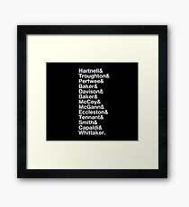 The 13 Doctors - Hartnell to Whittaker Framed Print
