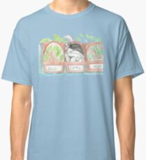 kitten in catnip watercolor sketch Classic T-Shirt