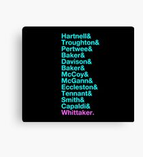 The Newest 13th - The 13 Doctors from Hartnell to Whittaker Canvas Print