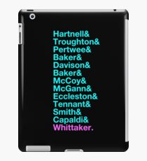 Das Neueste 13. - Die 13 Ärzte von Hartnell nach Whittaker iPad-Hülle & Klebefolie
