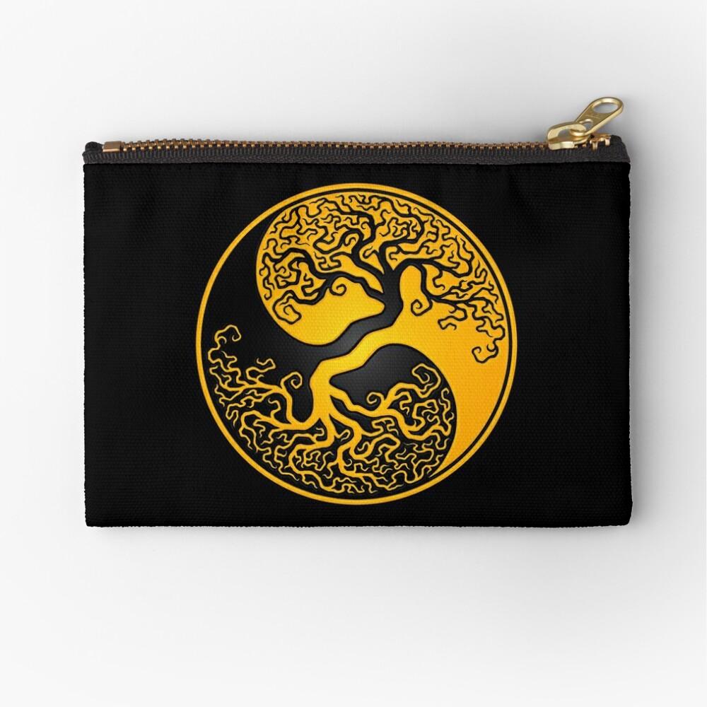 Gelber und schwarzer Baum des Lebens Yin Yang Täschchen