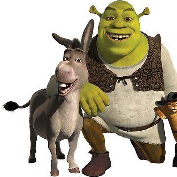 shrek and donkey by Danigeheb