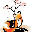Sakura Kitsune by rhpotter