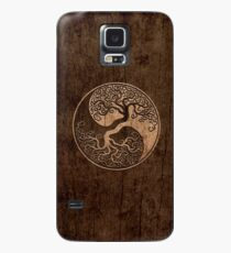 Rough Wood Grain Effect Tree of Life Yin Yang Case/Skin for Samsung Galaxy