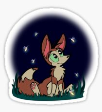 Fox at Night Sticker