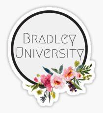 Bradley University Floral sticker Sticker