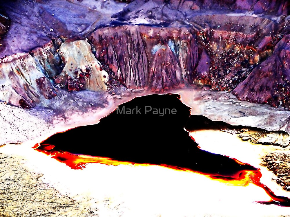 Lavender Pit Abstract by Mark Payne