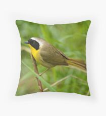 Common Yellowthroat Throw Pillow