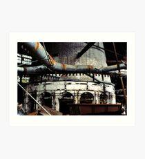 Glass Factory Art Print