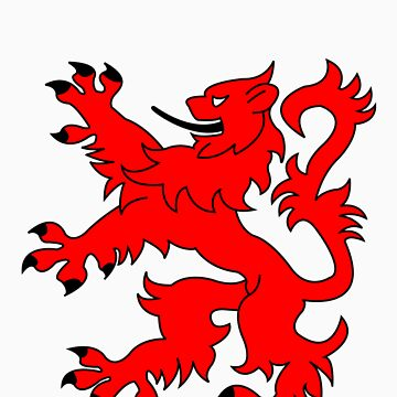 Rampant Lion Red by iainmacdonald