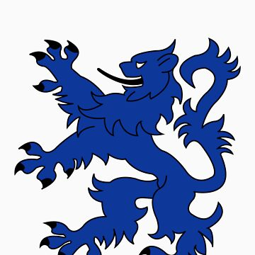 Rampant Lion Blue by iainmacdonald