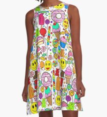 Candy Collage A-Line Dress