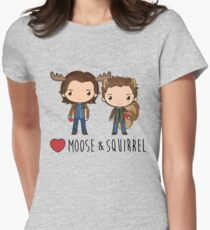 Love Moose & Squirrel - Supernatural Women's Fitted T-Shirt