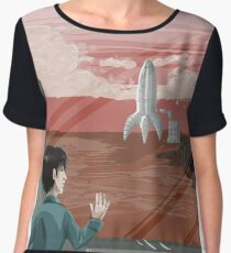 Get Your Butt to Mars Chiffon Top